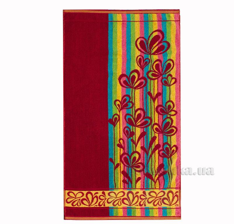 Полотенце махровое Речицкий текстиль Лютики красное
