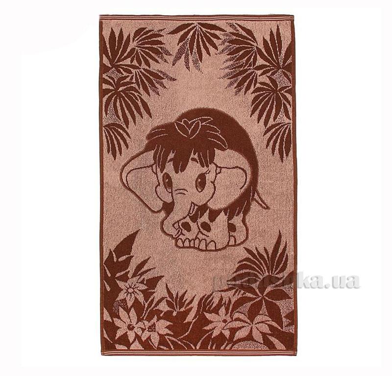 Полотенце махровое Речицкий текстиль Мамонтенок коричневое