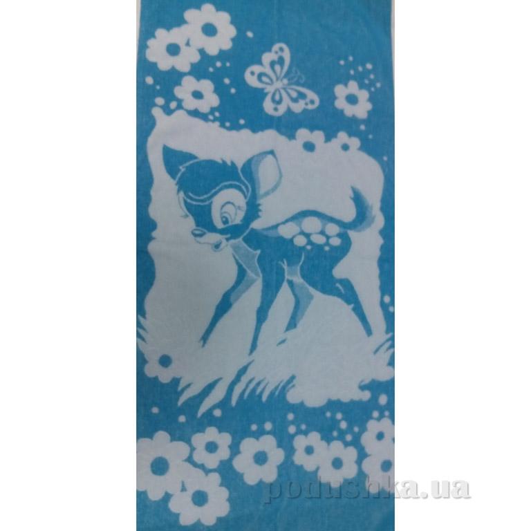 Полотенце махровое Речицкий текстиль Оленёнок синее 40х67 см  Речицкий текстиль