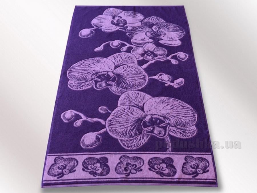 Полотенце махровое Речицкий текстиль Орхидея фиолетовое