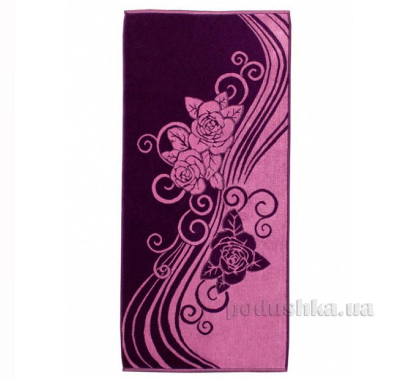 Полотенце махровое Роза с вензелем Речицкий текстиль