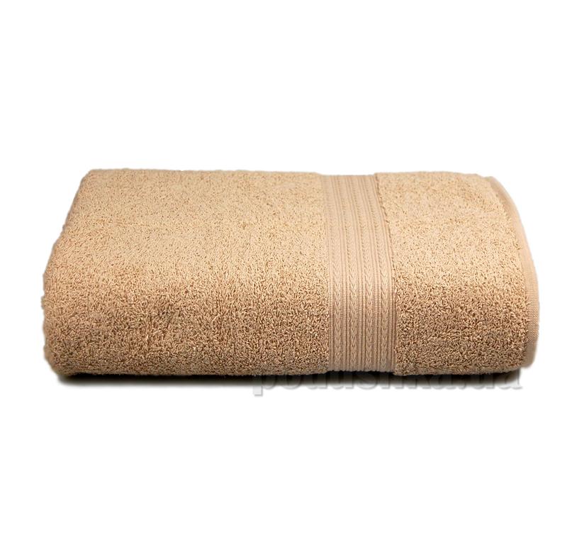 Полотенце махровое с бордюром Home line кофейное 114695