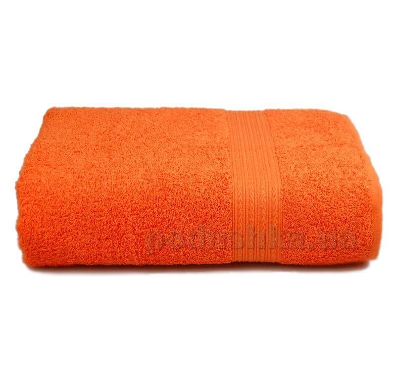 Полотенце махровое с бордюром Home line оранжевое 114697