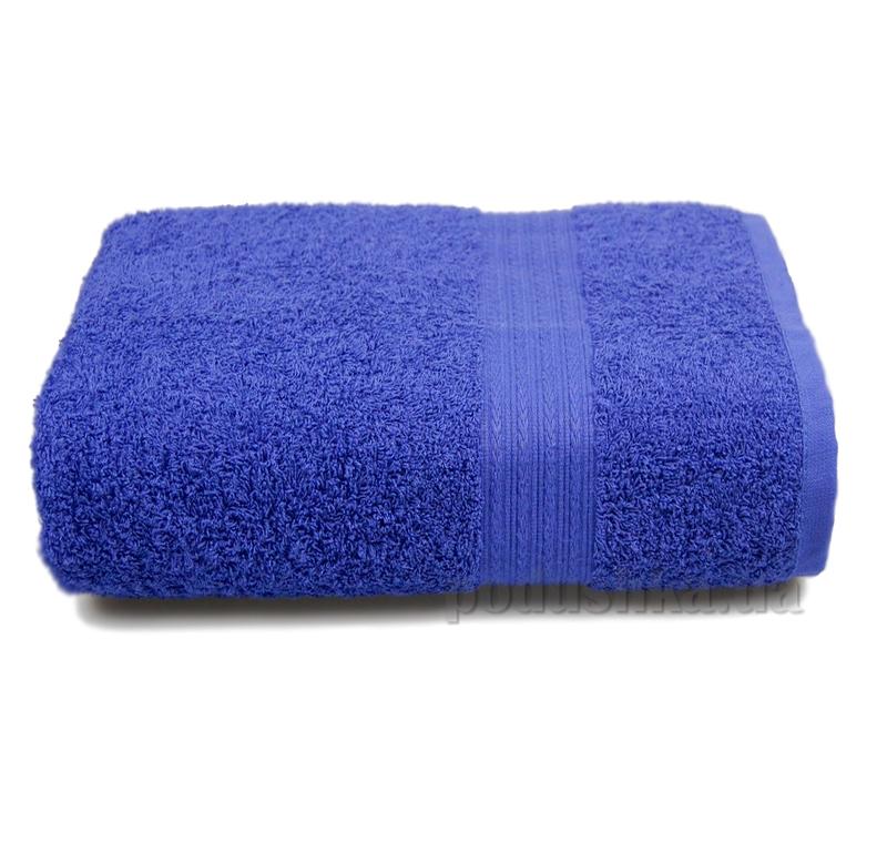 Полотенце махровое с бордюром Home line темно-синее 114690