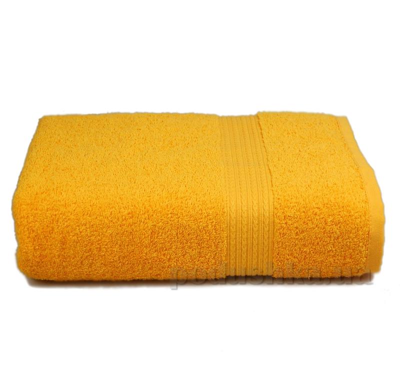 Полотенце махровое с бордюром Home line желтое 114696
