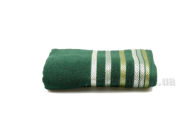 Полотенце махровое Shamrock Bianna темно-зеленый