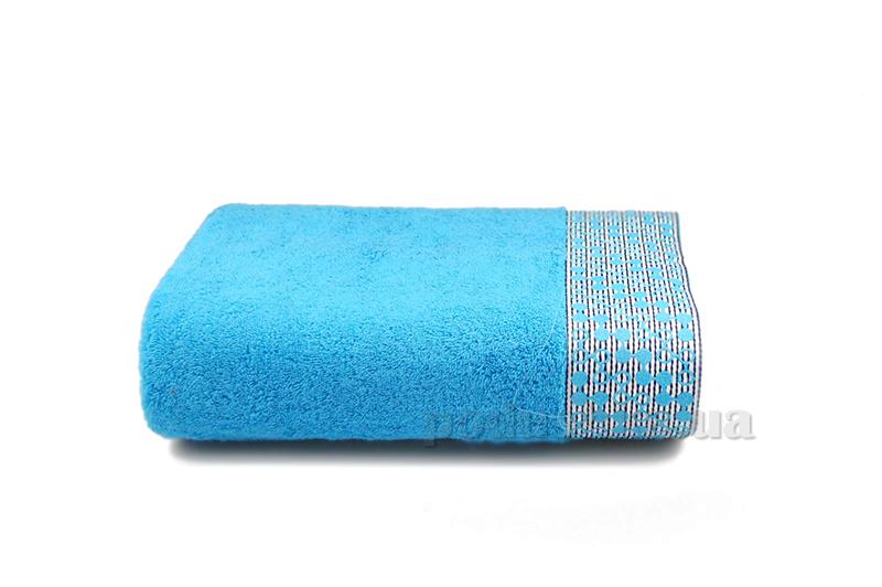 Полотенце махровое Shamrock Lykia голубой