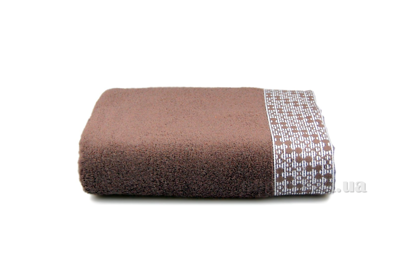 Полотенце махровое Shamrock Lykia темно-коричневый