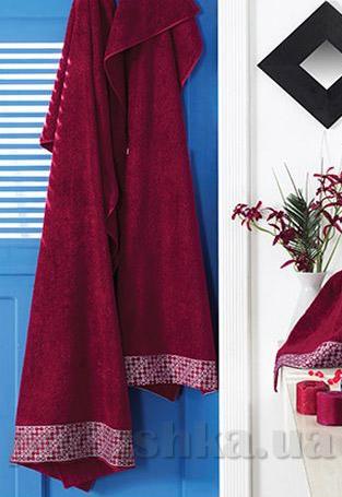 Полотенце махровое Shamrock Lykia красное