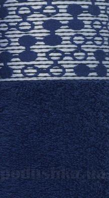 Полотенце махровое Shamrock Lykia темно-синее