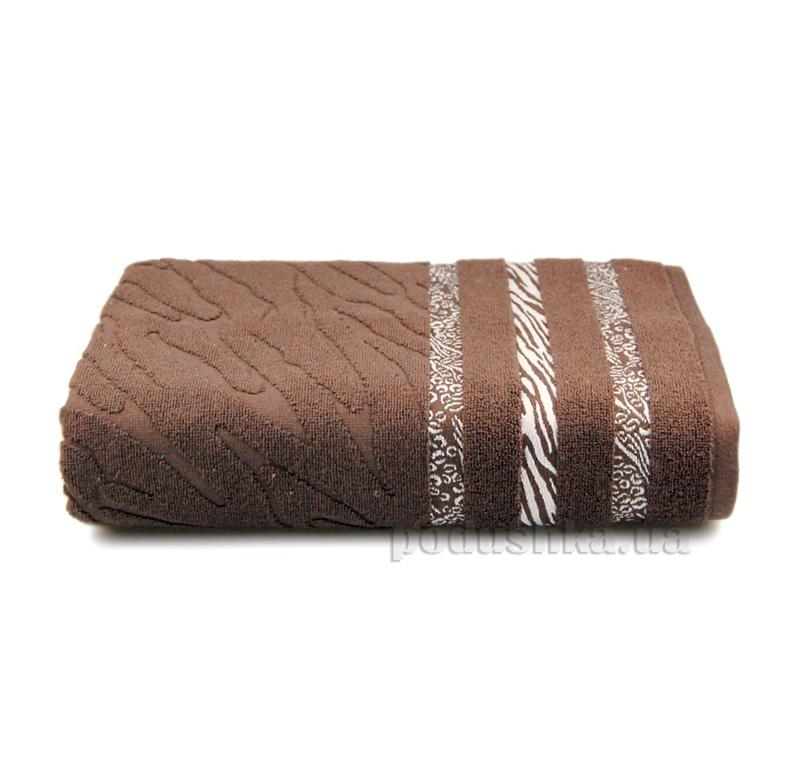 Полотенце махровое Shamrock Niobe темно-коричневое