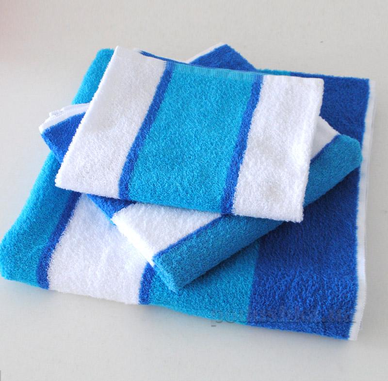 Полотенце махровое SoundSleep бело-голубое