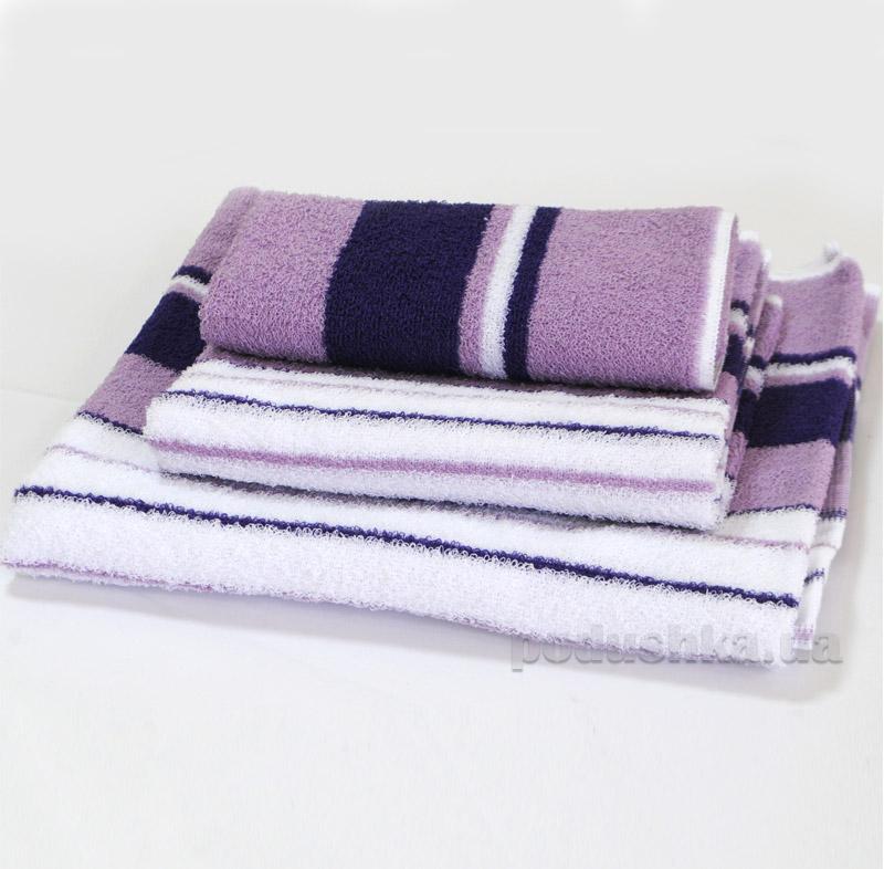 Полотенце махровое SoundSleep с фиолетовой полосой