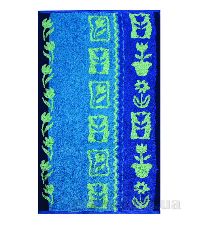 Полотенце махровое Тюльпан Ярослав голубое