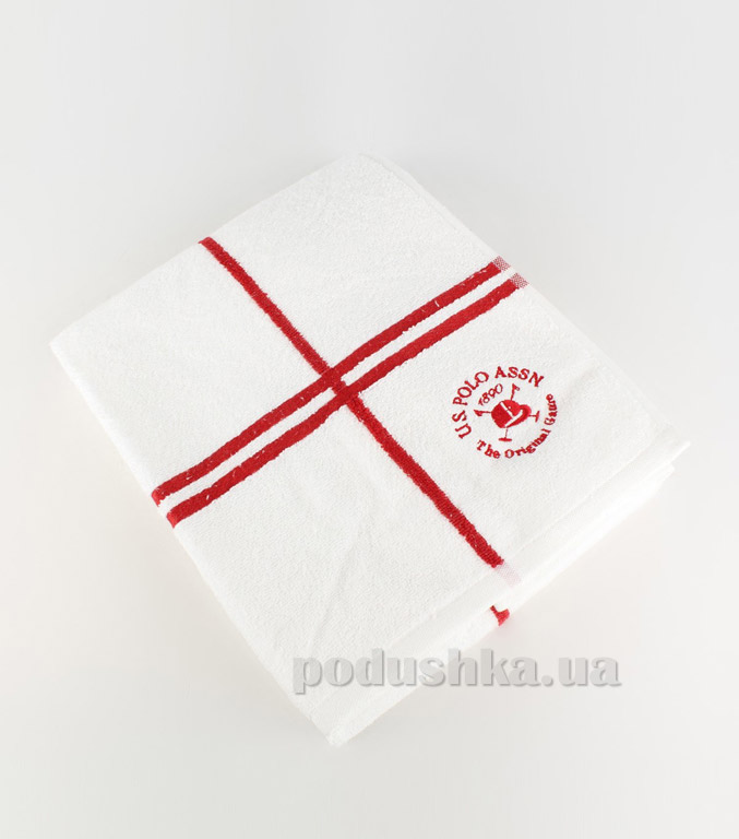 Полотенце махровое U.S. Polo Assn Roswell красное