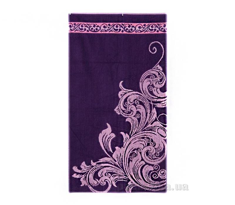 Полотенце махровое Вензель Речицкий текстиль фиолетовое