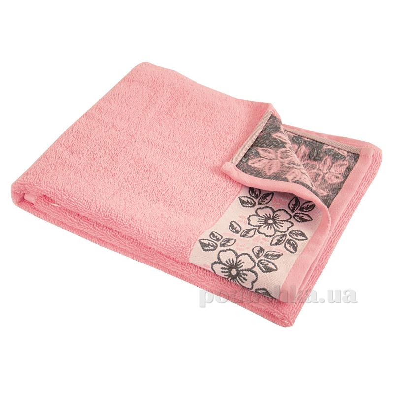 Полотенце махровое Ярослав Лайт космея розовое
