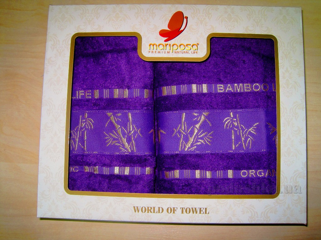 Полотенце бамбук Mariposa Gold фиолетовое