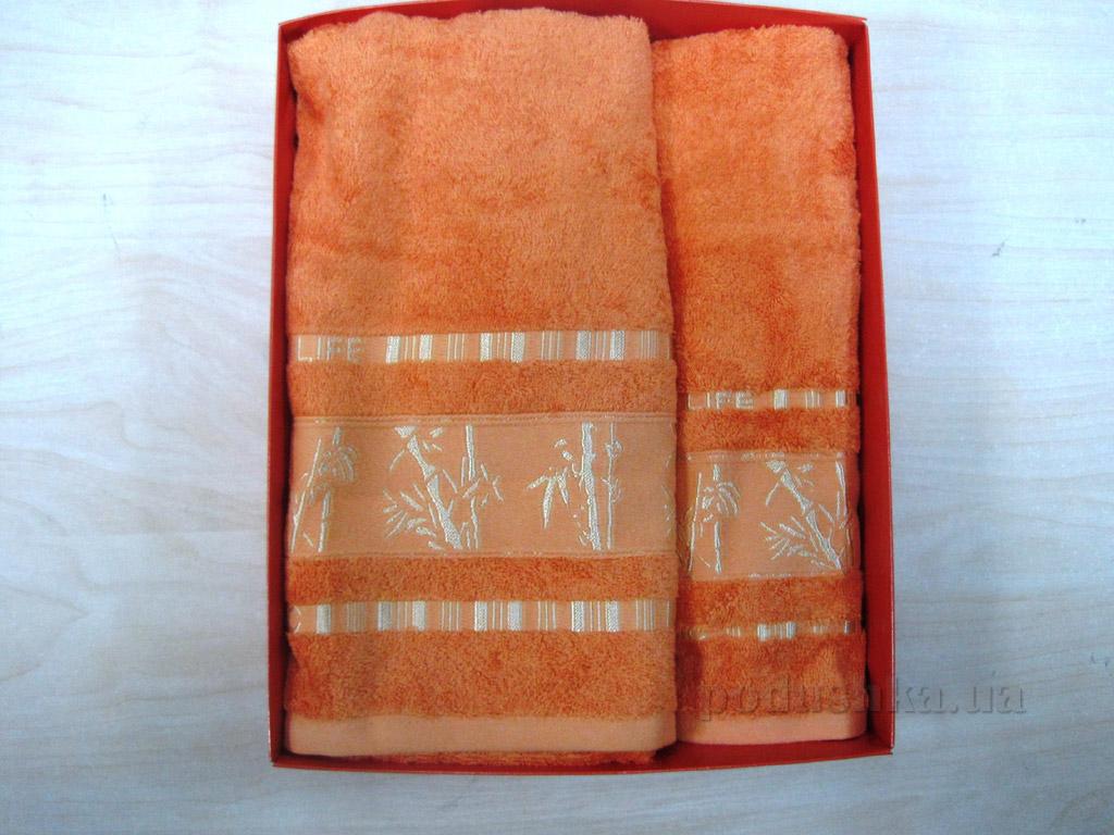 Полотенце бамбук Mariposa Gold оранжевое