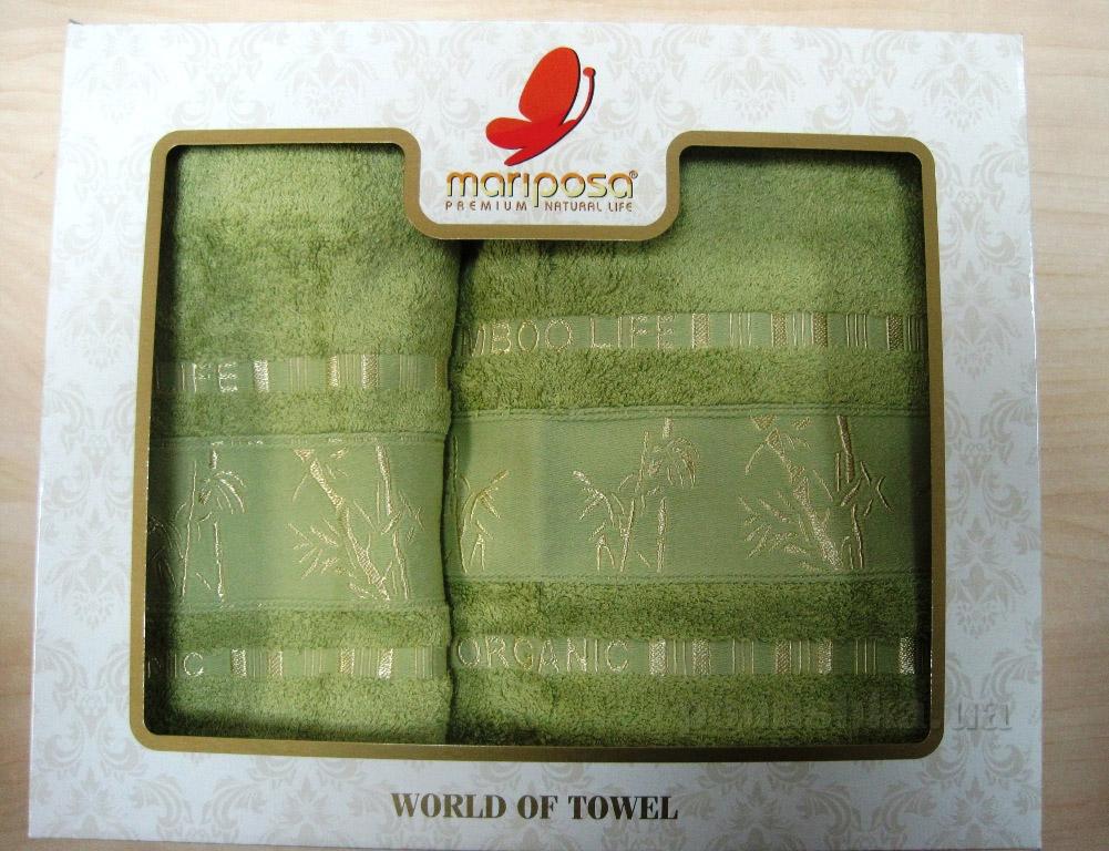 Полотенце бамбук Mariposa Gold салатовое светлое