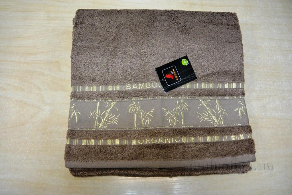 Полотенце бамбук Mariposa Gold тёмно-бежевое