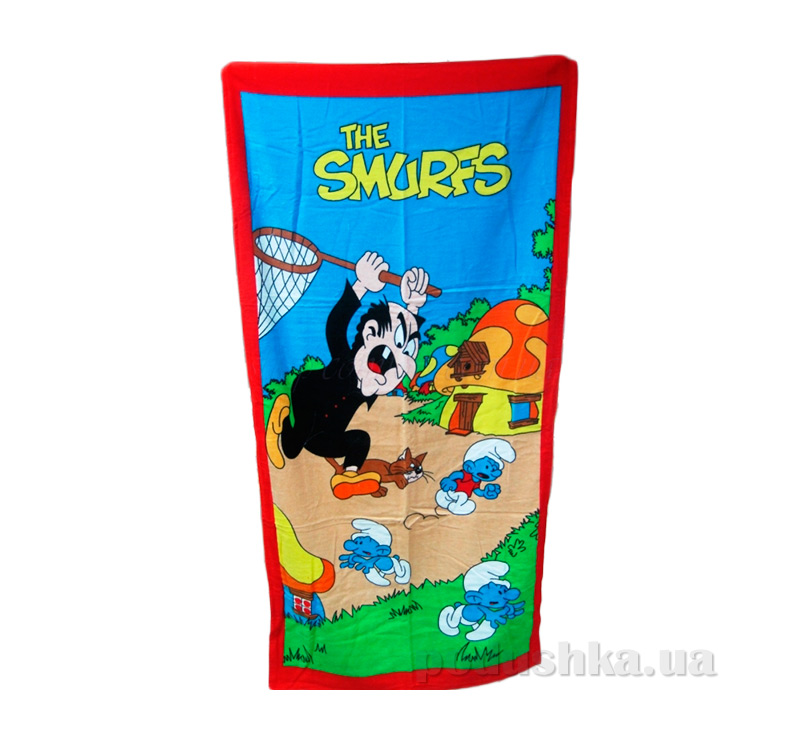Полотенце пляжное детское Смурфы