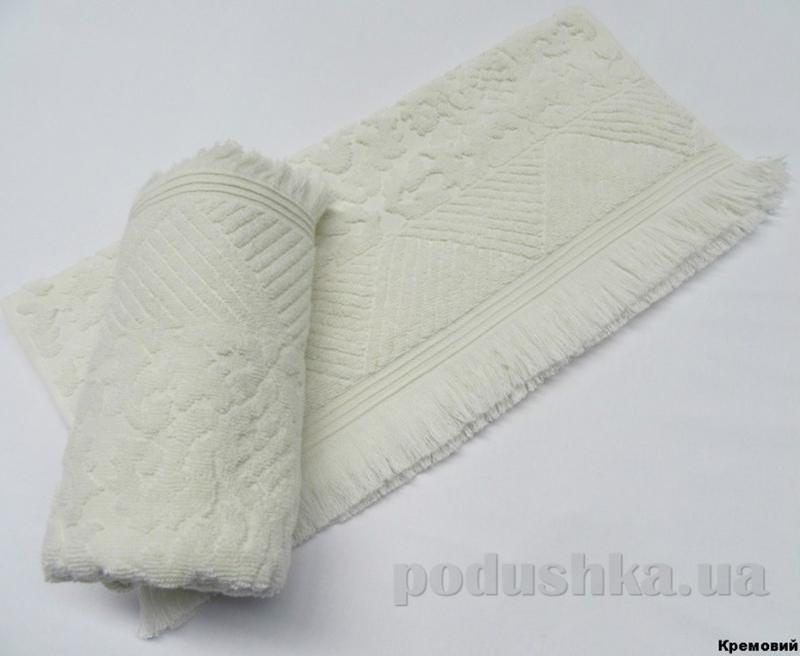 Полотенце с бахромой Arya Ayca кремовое