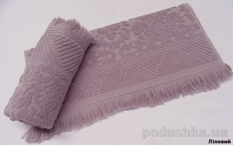 Полотенце с бахромой Arya Ayca лиловое