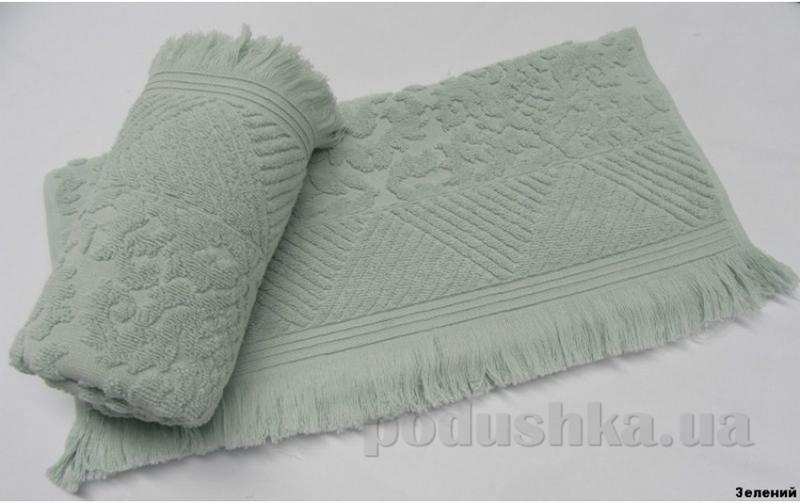 Полотенце с бахромой Arya Ayca зеленое