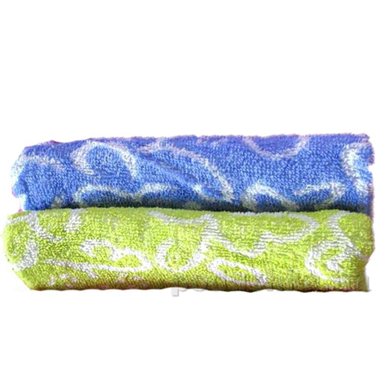 Полотенце тонкое махровое Terry Lux Орнамент синий