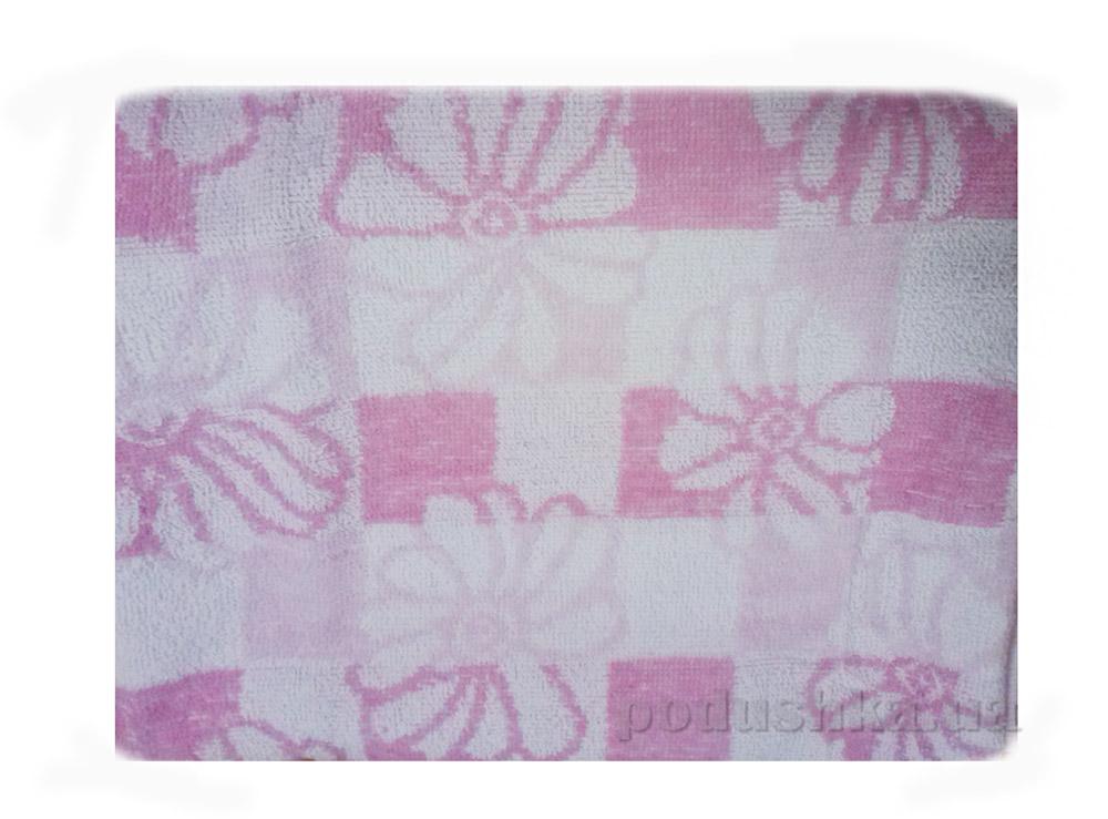 Полотенце тонкое махровое Terry Lux Ромашка розовая