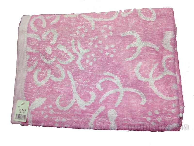Полотенце тонкое махровое Terry Lux Орнамент розовый