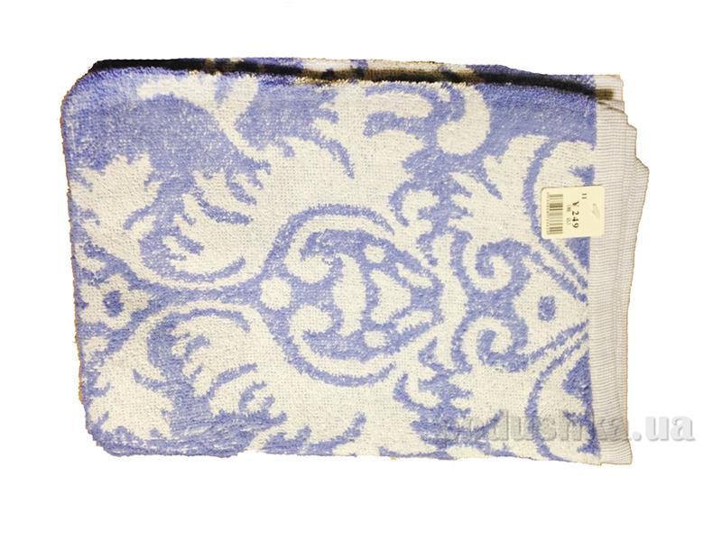 Полотенце тонкое махровое Terry Lux Вензеля синий