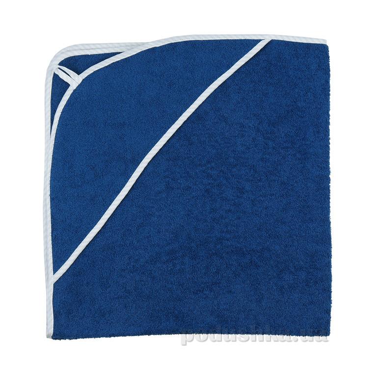 Полотенце-уголок для купания Руно махра синее