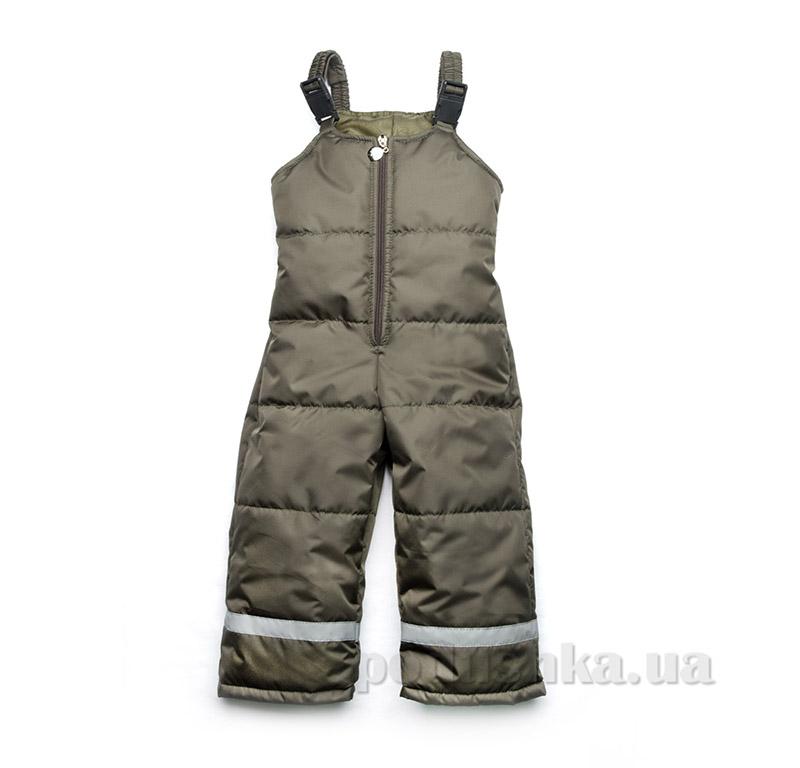 Полукомбинезон демисезонный для мальчика Модный карапуз 03-00553 Хаки