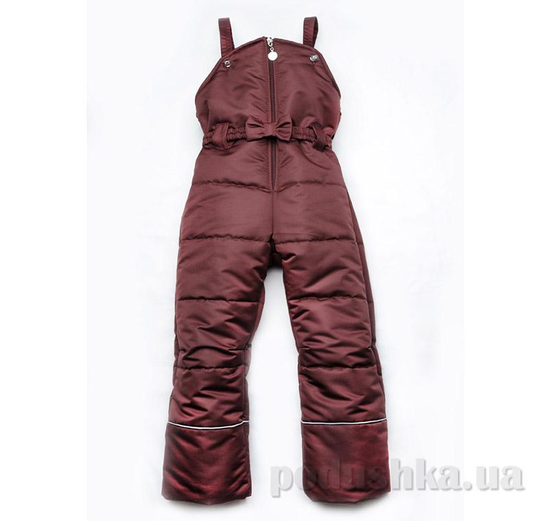Полукомбинезон зимний для девочки Модный карапуз 03-00462 бордовый