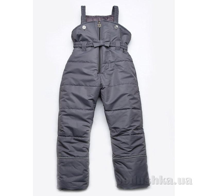 Полукомбинезон зимний для девочки Модный карапуз 03-00462 серый