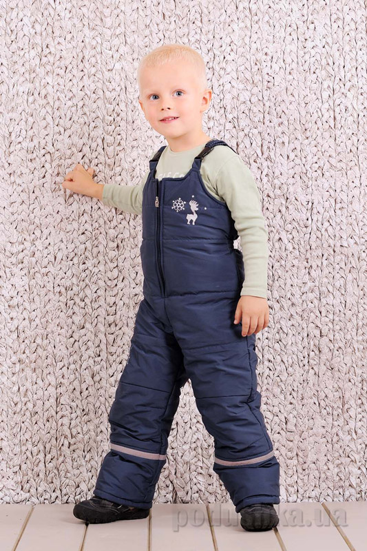 Полукомбинезон зимний для мальчика Модный карапуз 03-00462 синий