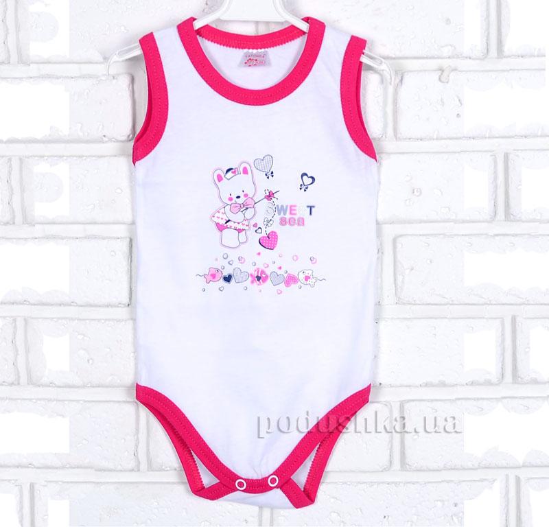 Полукомбинезон-майка для девочки Татошка 14117 бело-розовый