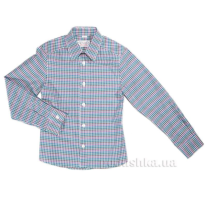 Полуприталенная подростковая рубашка Юность М-147-1 разноцветная