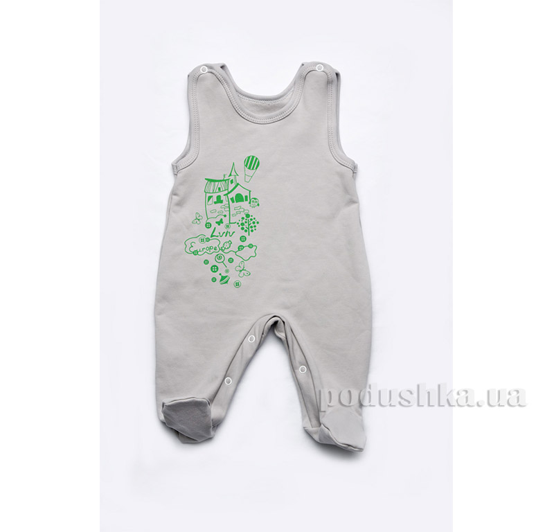Ползунки для новорожденных Модный карапуз 301-00011 Серый