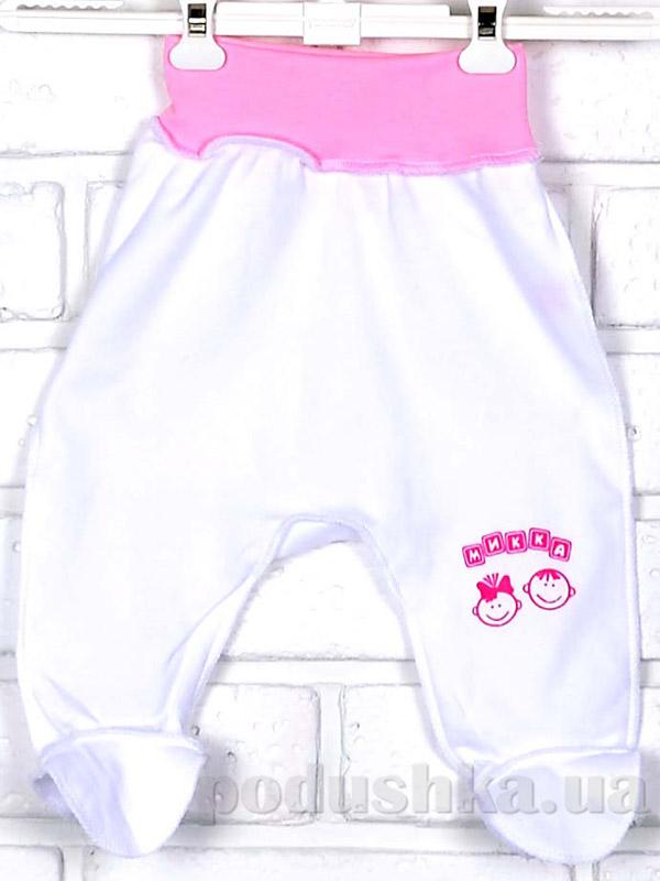Ползунки Mukka м03607 бело-розовые