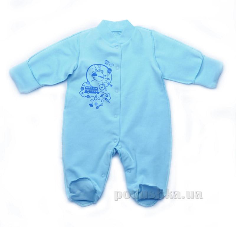 Ползунки-комбинезон легкий для малышей Модный карапуз 301-00013 голубой