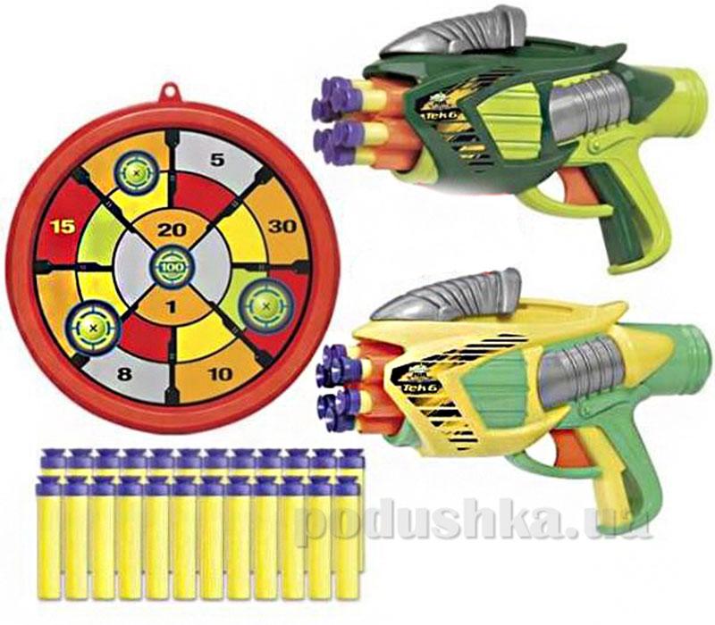 Помповое оружие Twin Tek 6 с мишенью и патронами BuzzBeeToys