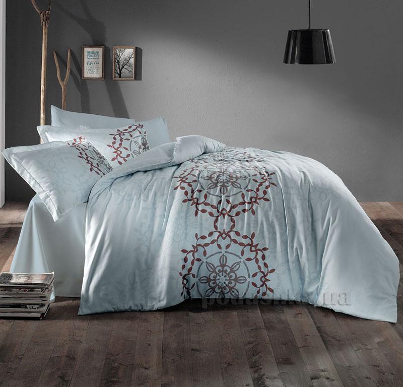 Постельное белье Aran CLASY Sateen Artina голубой 51444