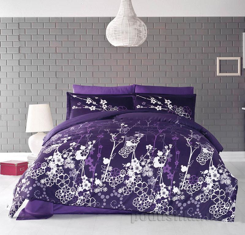 Постельное белье Aran CLASY Sateen Harmony фиолетовый 21089
