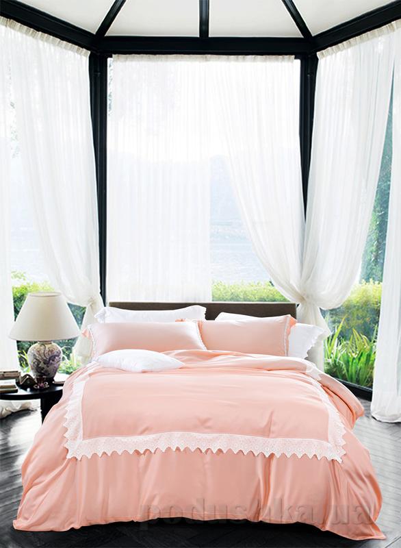Постельное белье Bella Villa T-0001 тенсел Двуспальный евро комплект  Bella Villa