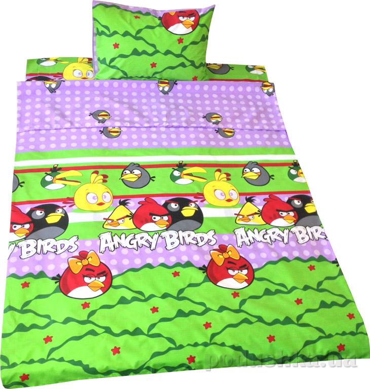 Постельное белье Билана Птички на фиолетовом