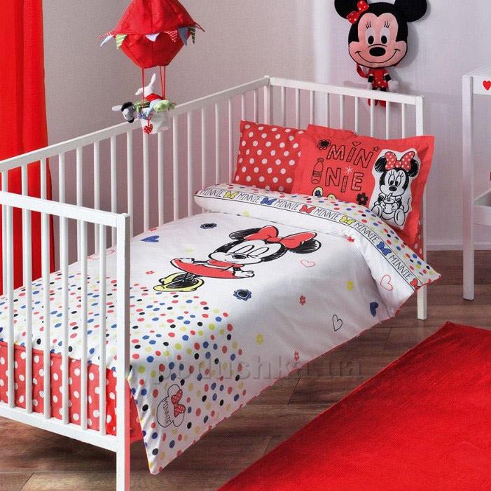 Постельное белье для детской кроватки TAC Minnie sketch baby