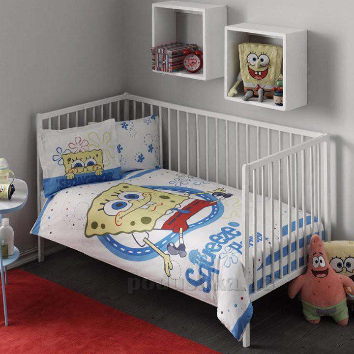 Постельное белье для детской кроватки TAC Sponge Bob baby